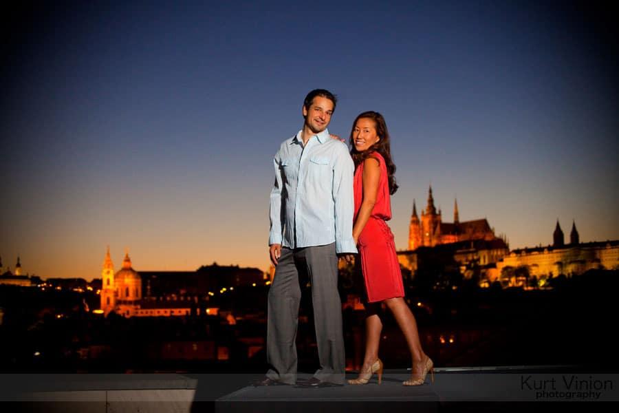 Read more about the article Engagement portraits Prague: Akiko & Jakub Engagement portrait session
