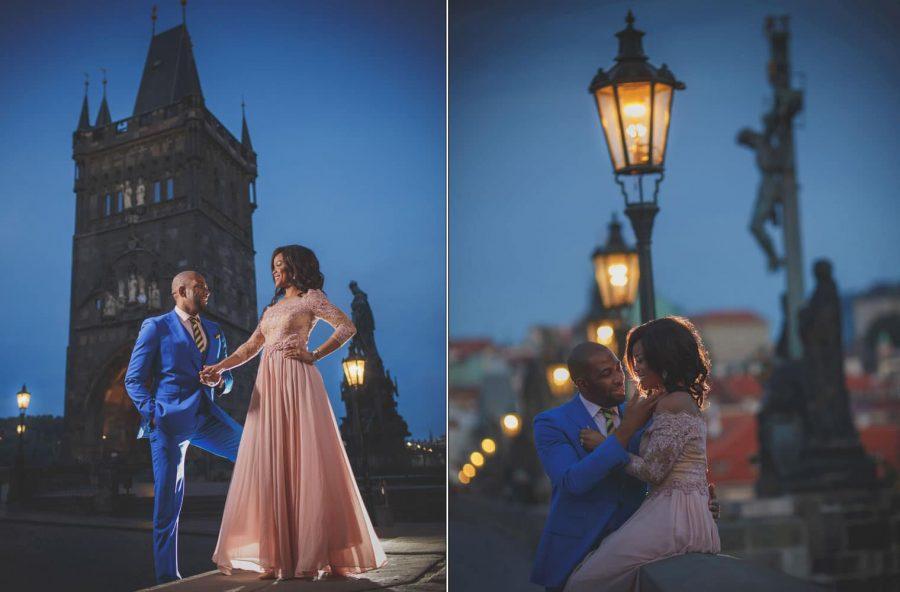Amala & Emeka's Engagement Portrait Session in Prague. Portraits by American photographer Kurt Vinion