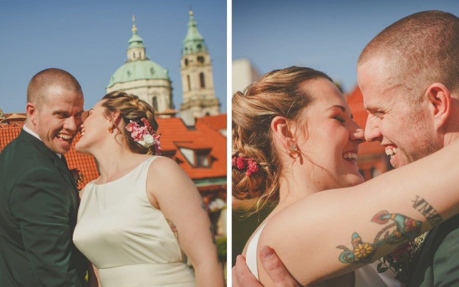 Prague weddings / R&J / Wedding Ceremony at the Vrtba Garden / American Photographer Kurt Vinion