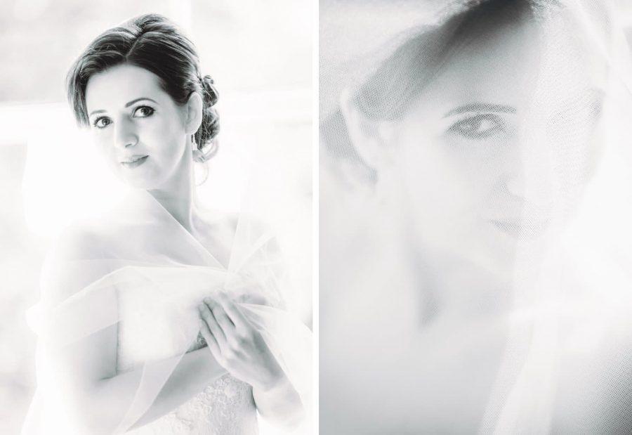 Irish weddings, B&W portrait of beautiful bride