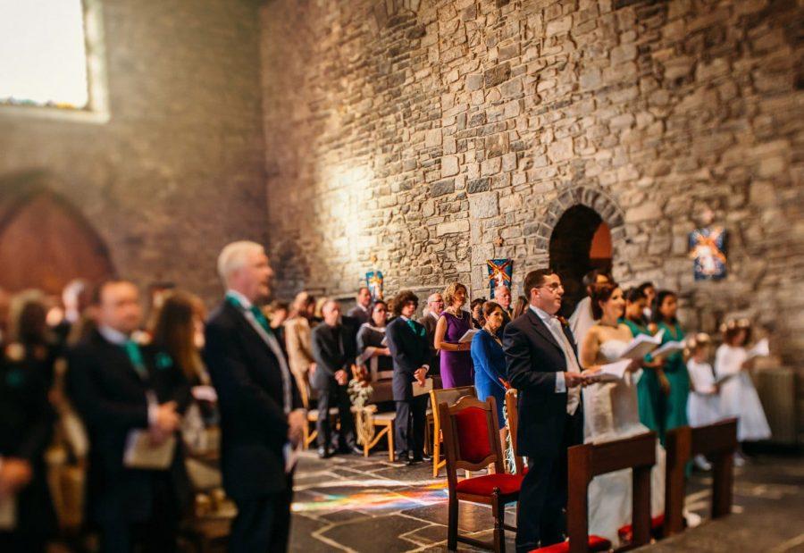 Franciscan Abbey Multyfarnham, wedding, natural light, tilt-shift lens, artistic photo