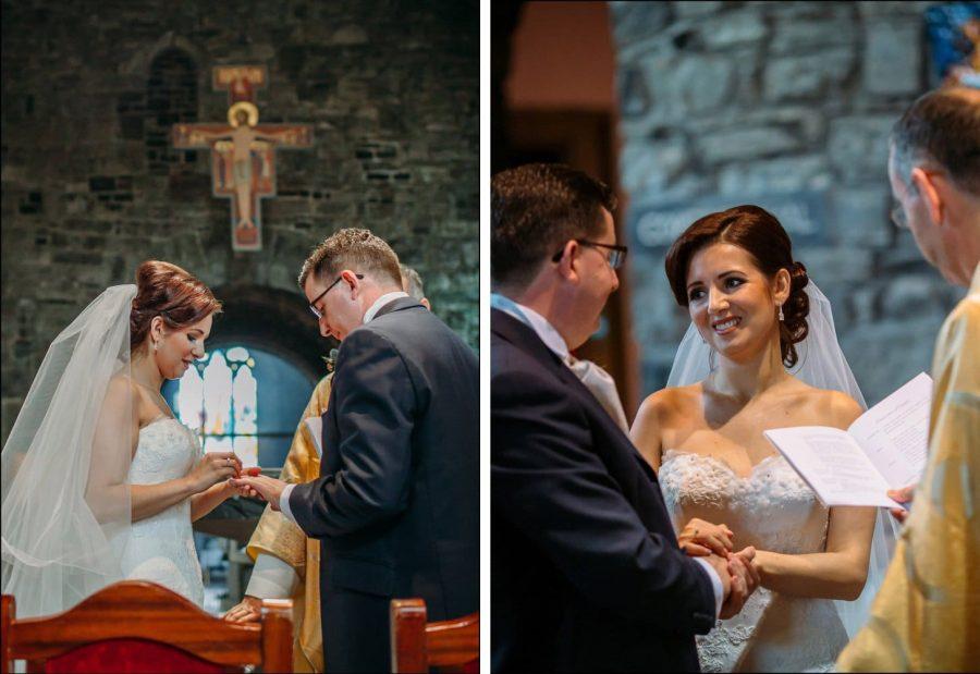 Franciscan Abbey Multyfarnham, wedding, natural light, exchanging of rings