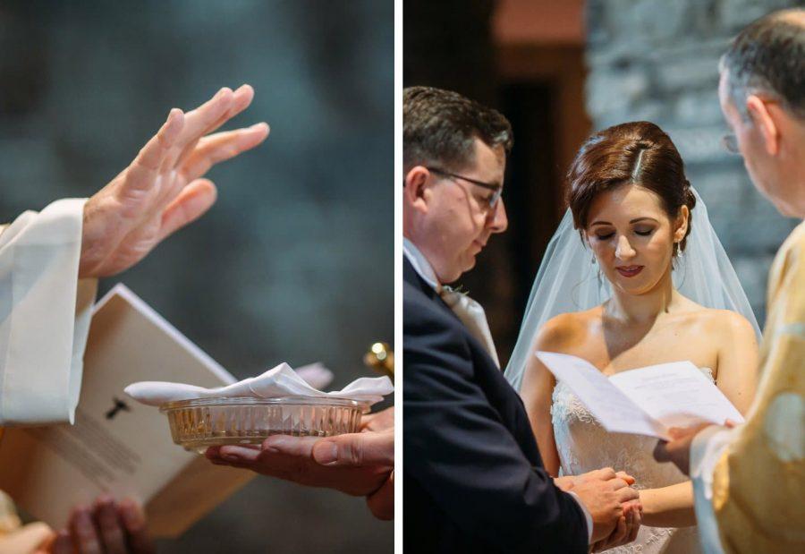 Franciscan Abbey Multyfarnham, wedding, natural light, exchanging of vows