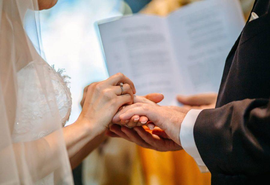 Franciscan Abbey Multyfarnham, wedding, natural light, exchanging of rings, hand details