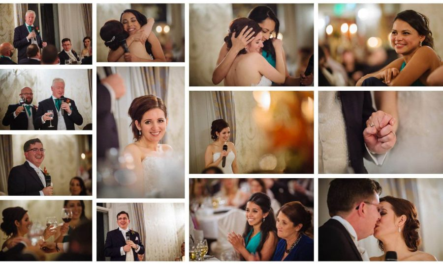 Middleton Park House Hotel, dinner & reception, happy people, speeches, smiles
