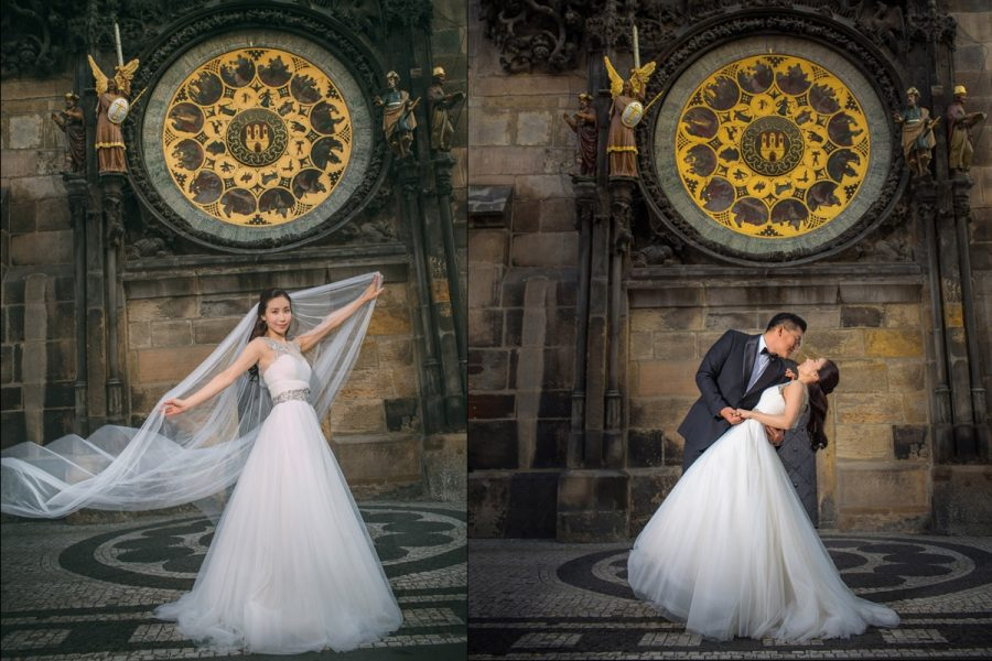 Prague-Astronomical-Clock-wedding-portraits