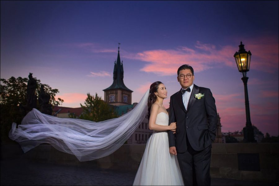 {Prague Portrait Photographer} C&C traveled over from South Korea to have a very stylish, elegant and classy post wedding portrait session in the Czech capital. Photography by Kurt Vinion