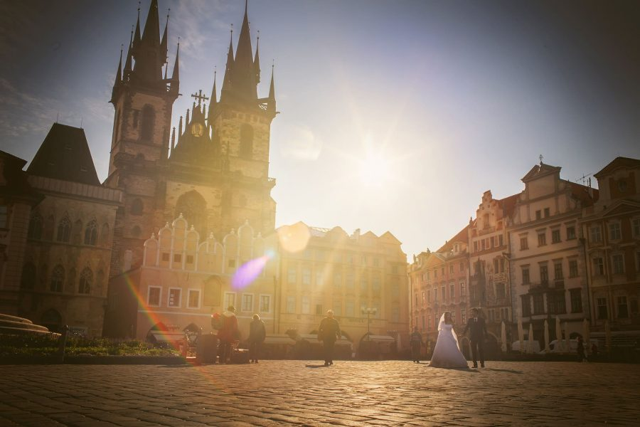 Prague pre-weddings photos