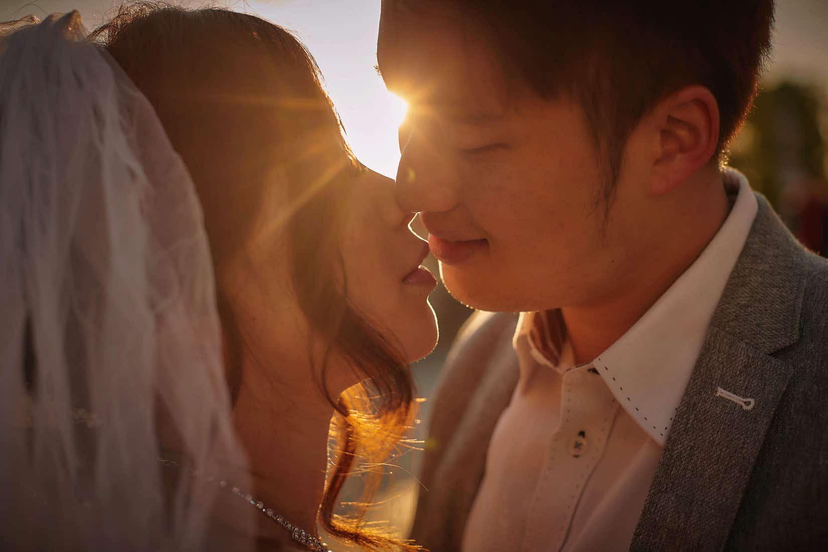 a beautiful natural style sun-lit pre-wedding portrait session in Prague
