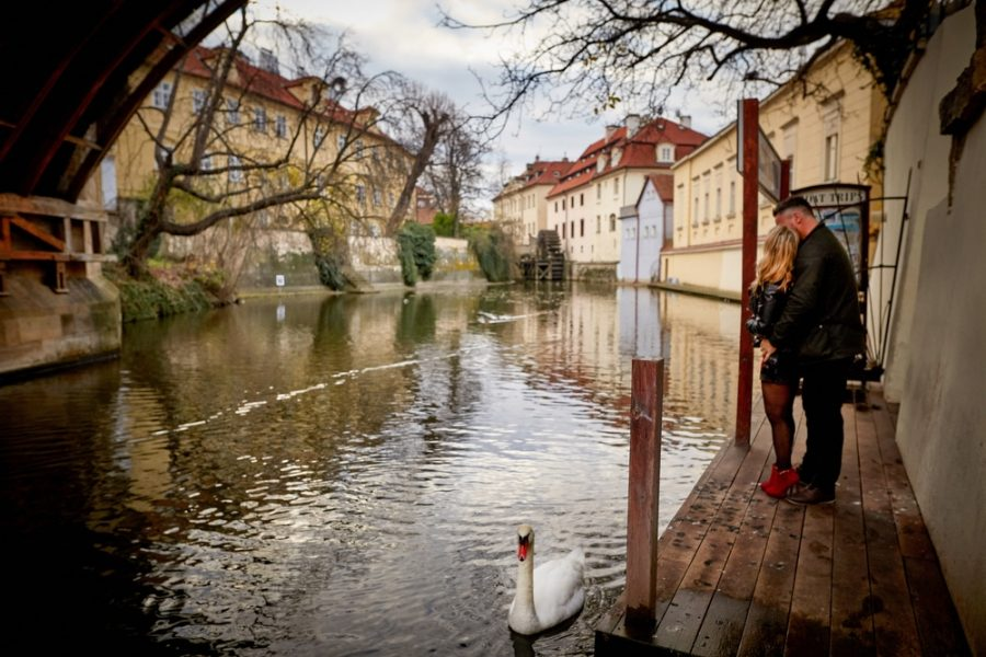 Prague's 'little Venice' provides the wonderful atmosphere for our latest couple whose lifestyle session became a surprise marriage proposal